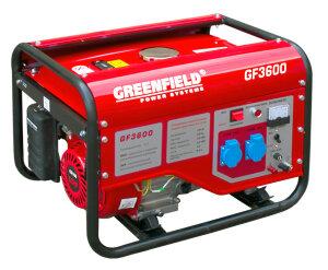 Бензиновый генератор GREEN FIELD GF3600