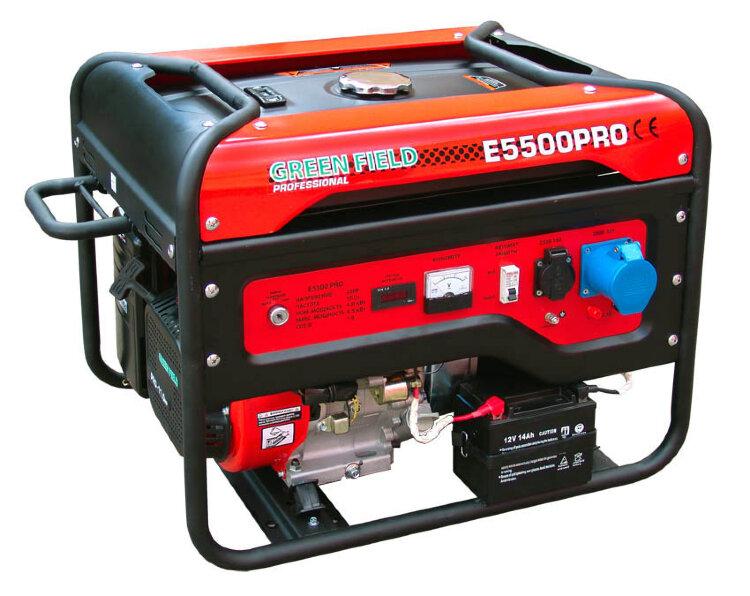 Бензиновый генератор Green-Field E5500PRO с доставкой по Москве.