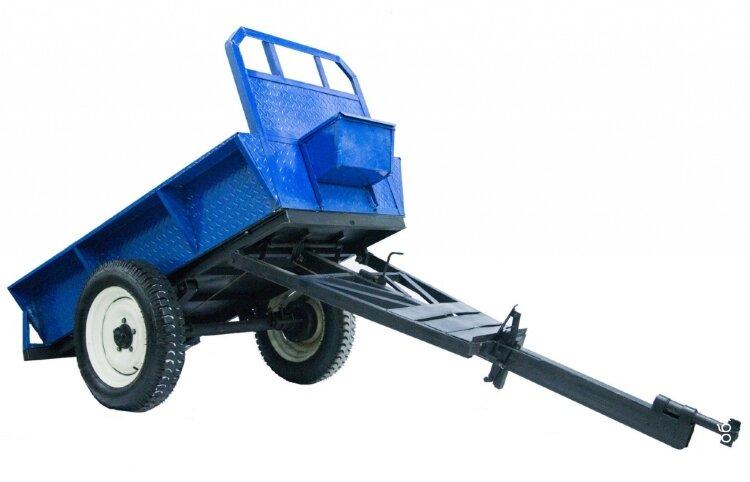 Прицеп для мини трактора 1000 кг.