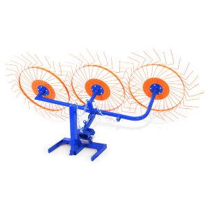 Грабли Солнышко 3-х секционные ворошилки для мотоблока