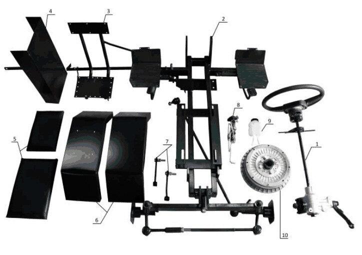 Набор для переоборудования мотоблока в мини-трактор