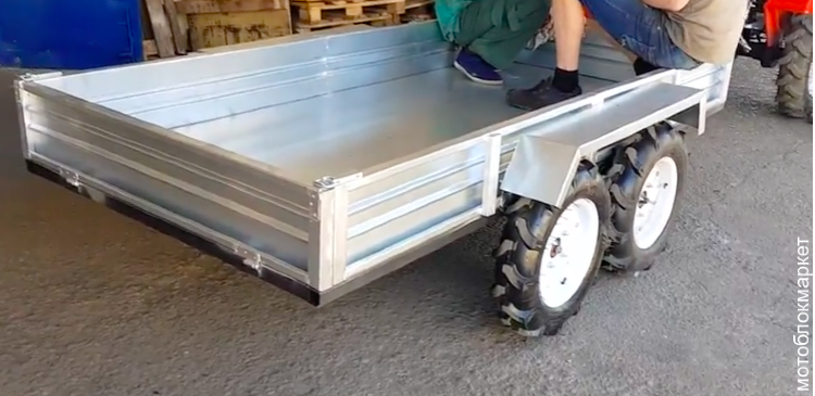 Прицеп для минитрактора 1000 кг. оцинкованный