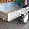 Прицеп для мотоблока двухосный 1000 кг. оцинкованный